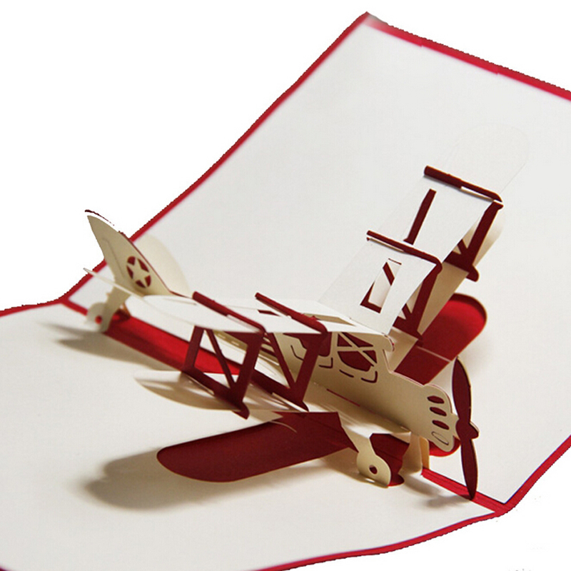 10 pieceslot2015 new design vintage aircraft greeting cards 10 pieceslot2015 new design vintage aircraft greeting cards handmade creative 3d pop up airplane birthday card for children in cards invitations from m4hsunfo