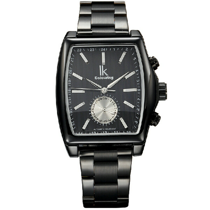 ФОТО Ik for male casual watch square fully-automatic mechanical watch mens watch 98184g