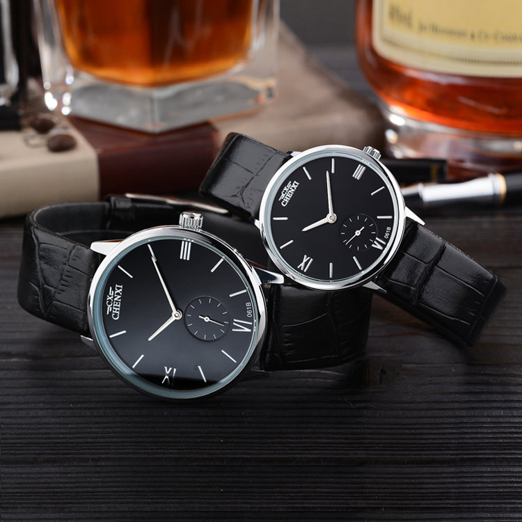 Fashioh Brand Simple Leather Women Man Lovers Quartz Small Dial Design Gift Clock Female Watches Gold Silver Ladies WristWatches