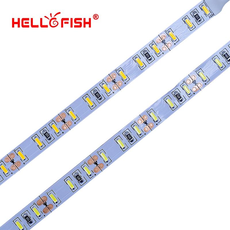 цена Hello Fish 5M 4014 LED Strip, 120 LED/M DC12V Flexible LED Tape LED Strip Light White/Warm White With Hello Fish