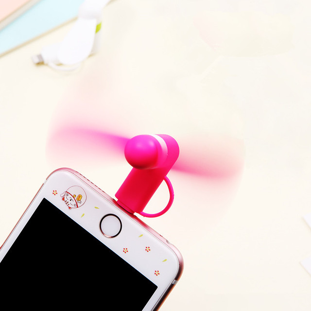 2-in-1 Mini Cell Phone Fan for iPhone/iPad and Android 3