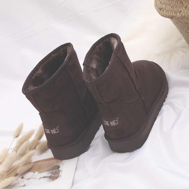 Новое поступление, Зимняя Мужская модная бархатная мужская повседневная обувь на плоской подошве, мужские Нескользящие зимние ботинки на плоской подошве, Мужские ботинки в стиле ретро