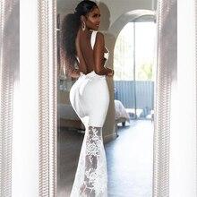 Новинка 2020, модное женское белое бандажное платье Ocstrade, сексуальное платье макси с открытой спиной, длинное облегающее кружевное вечернее платье