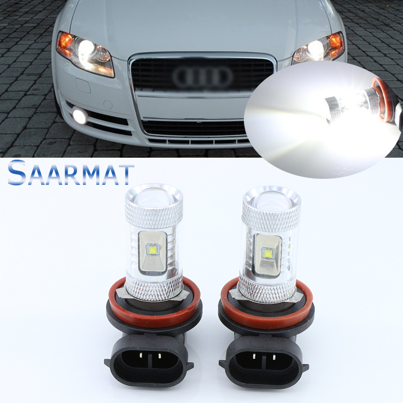 Pair H11 H8 30W w/ CREE Chips Car Auto Light LED Fog Light High Power Replacement Bulbs White For BMW E71 X6 M E70 X5 E83 F25