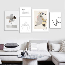 Minimalist Canvas Painting Woman Art Posters Abstract Print Wall For Living Room Poster Unframed