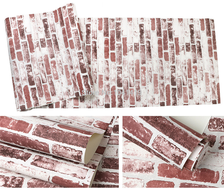 3D Imitation Brick Wallpaper Modern Retro Restaurant Cafe Bar PVC Waterproof Vintage Wall Papers Roll For Walls 3 D Home Decor