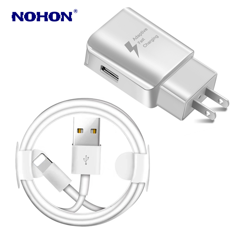 Image 3 - Kit 1M USB Cable+USB Fast Charger For iPhone X XS Max XR 5S 6 6S 7 8 Plus USB Charging Cable EU Plug Travel Wall Charger Adapter-in Mobile Phone Cables from Cellphones & Telecommunications