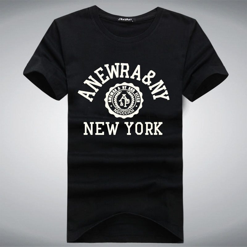 Fashion 2015 new york letters printed t shirt brand men t for New york printed t shirts
