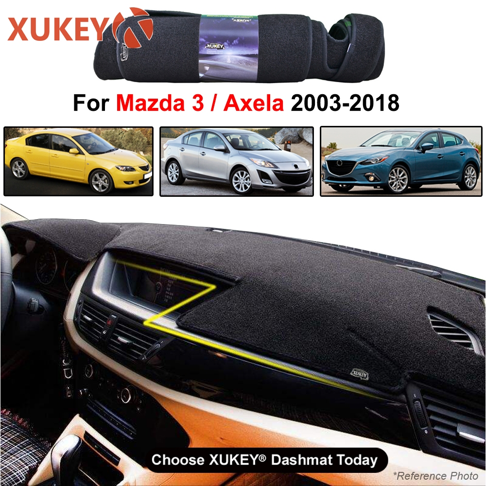 Car Dash Cover Mat Dashmat Dashboard Cover Carpet Pad For Mazda3 M3 <font><b>Mazda</b></font> <font><b>3</b></font> MPS Axela BK BL BM <font><b>2004</b></font> 2005 2006 - 2010 2013 2018 image