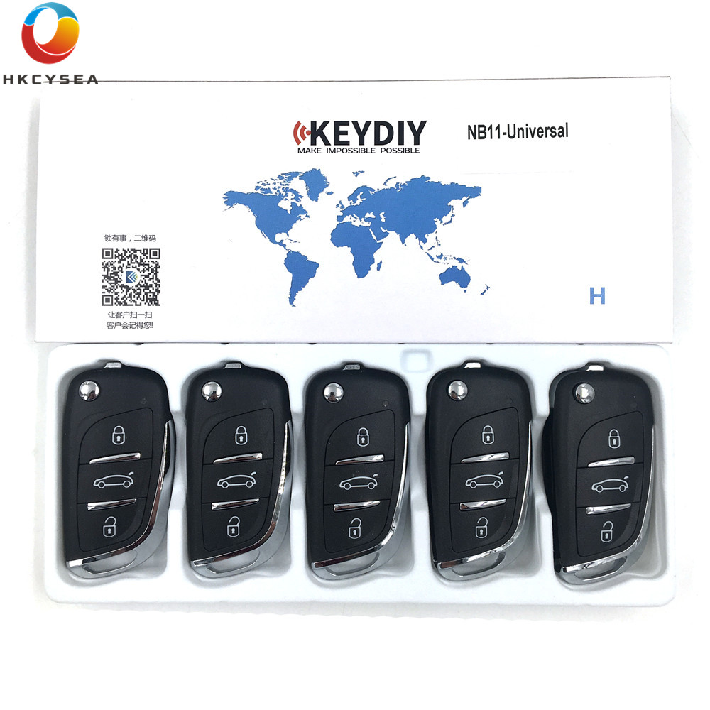 5PCS LOT 3 Button KD NB Series Universal Multifunctional DS Style Remote Work with URG200 KD900