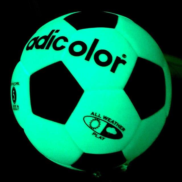5# 8.4 inch Luminous Football Soccer Ball Night Light Game Train Rubber Luminescence Children Adults Match Training