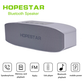 HOPESTAR H11 Bluetooth Wireless Speaker Hifi Soundbar Dual Bass Stereo Support USB TF AUX FM with Power bank charging for phone image