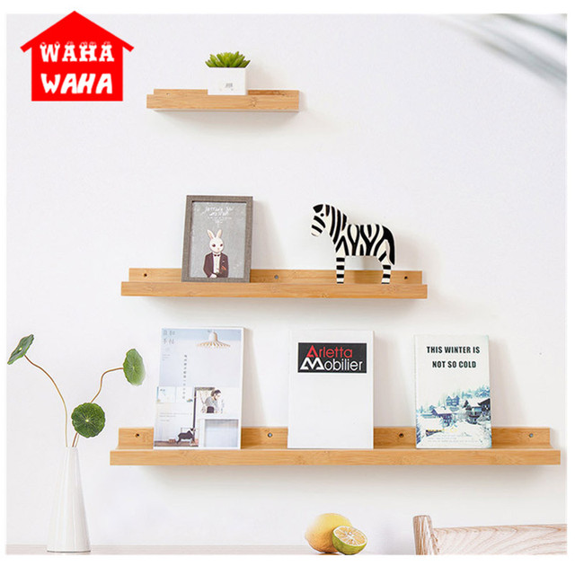 Minimalist Parion Book Wall Shelf Living Bedroom Hanging Wooden Storage Shlef Home Decoration Organizer Craft