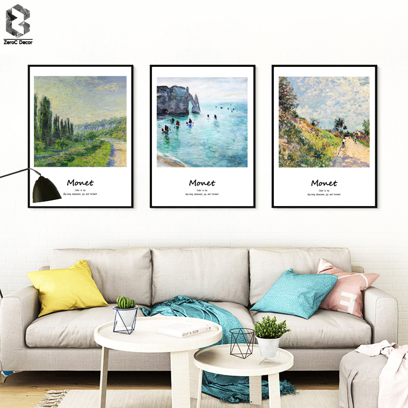 Monet Famous Painting Canvas Kunsttryk Poster Wall Picture for Living Room Decoration Abstrakt Home Decor