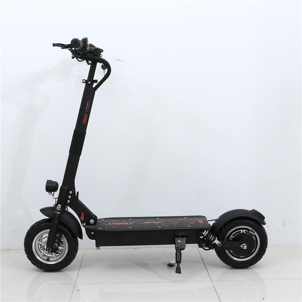 UBGO 1004 один драйвер вакуумные шины 10 дюймов складной электрический Scootor с 1000 Вт турбины двигатель