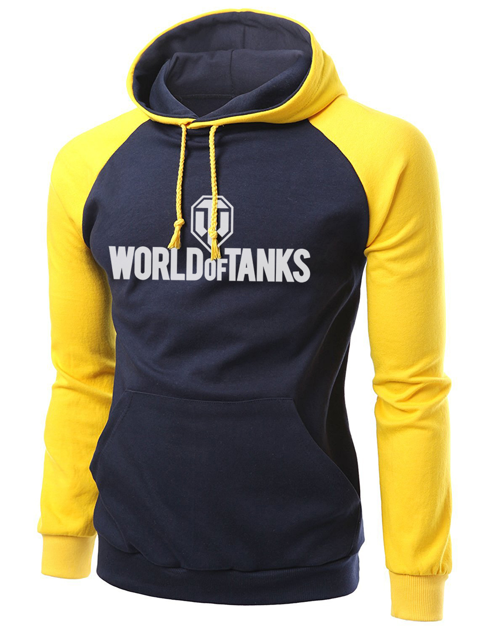 2019 New Arrival World War 2 Tanks Printed Autumn Winter Fleece Warm Sweatshirts Fashion Raglan Hoodies Slim Fit Tracksuit S-XXL