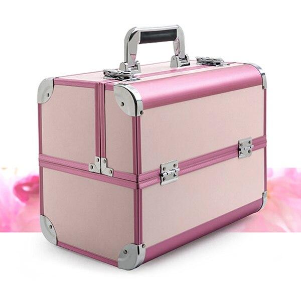 Женская Вместительная дорожная сумка для макияжа, портативный профессиональный косметический чехол, сумка для косметики, маникюра, косметологии, чехол для костюма