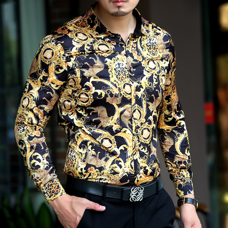 Compare Prices on Mens Leopard Print Dress Shirt- Online Shopping ...