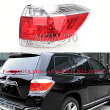 MIZIAUTO 1PCS Rear Tail Light For TOYOTA HIGHLANDER 2010 2011 2012 2013 Warning Light Brake Light Rear Bumper Light turn signal цена в Москве и Питере