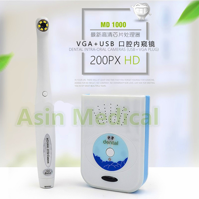 2017 Novo HD câmera intra-oral dental com saída VGA e interface USB dental unidade usb vga usb 1/4 sony ccd de 2.0 mega pixels md1000
