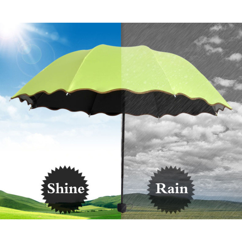 Click here to Buy Now!! Girl Anti UV Sunny Umbrella Rain Women Fashion  Princess Black Coating Purple Pink Green Blue Rose Female Parasol Rainy  Umbrellas a20c925e8287b