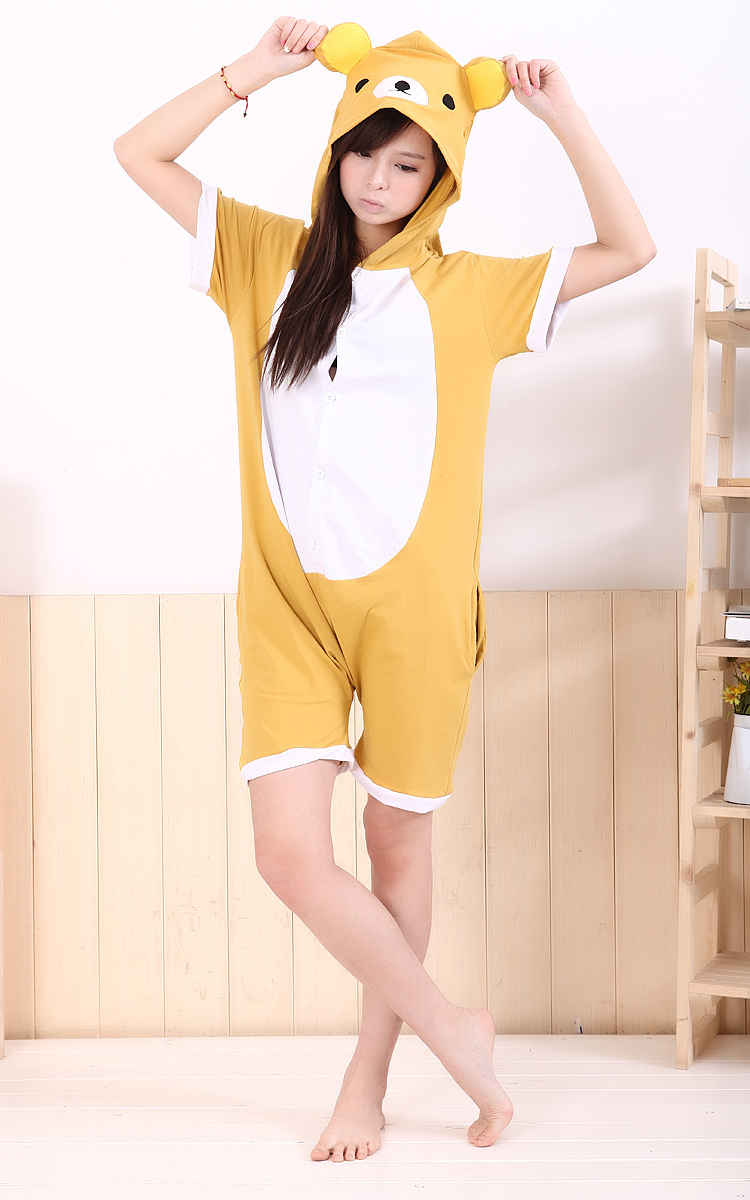 Designer Cute Cartoon Animal Anime Rilakkuma Bear Summer Oneise Adult Women Ladies Men's Cos Party Costumes