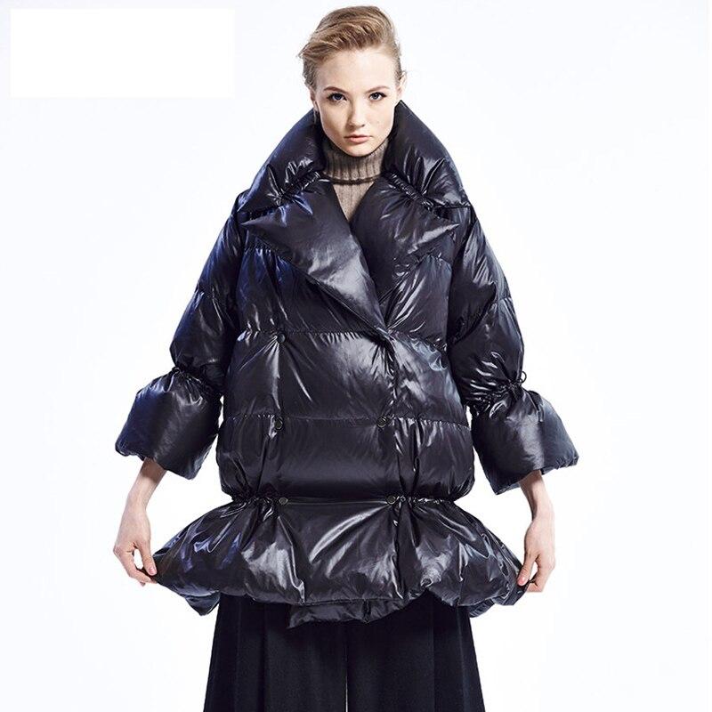 2017 Ladies Long Winter Coat Black Red Large Sizes Women ...