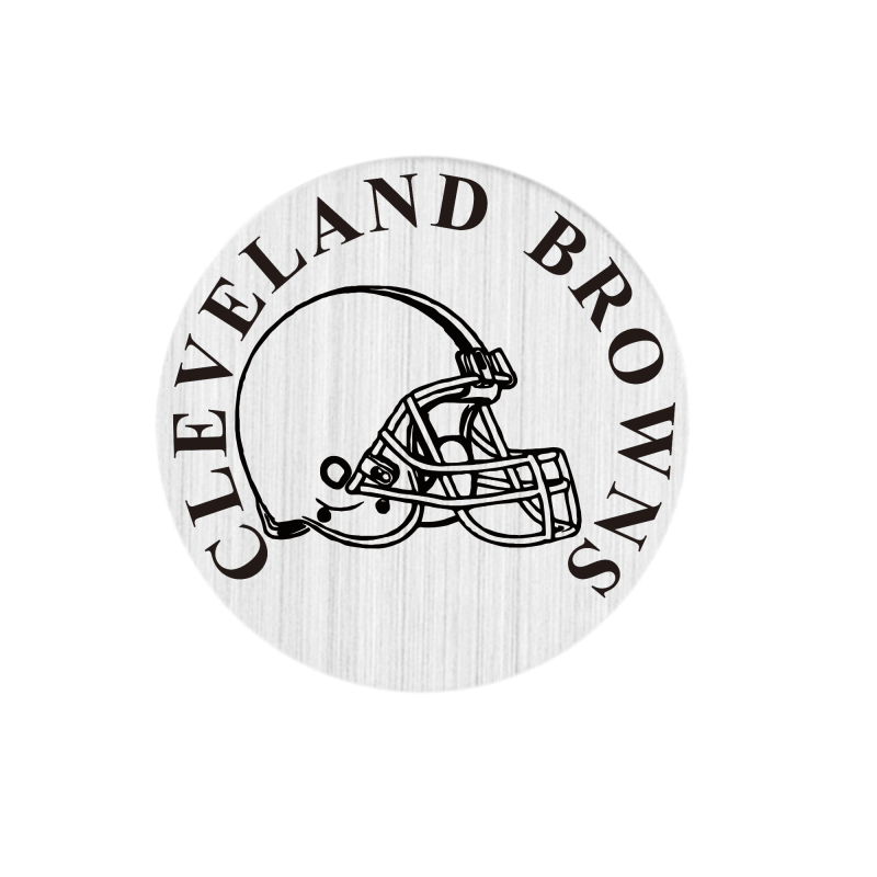 20 Pcs 316L Stainless Steel Plate Cleveland Browns Locket Plates Fit For 30mm Living Floating Glass Memory Locket