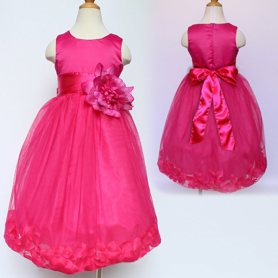 Lujo Vestido De Dama De Pétalos De Color Rosa Fotos - Colección del ...