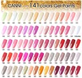 CANNI 140 Color Gel Paint Solid Pure Glitter UV Soak Off Gel Builder Gel Nail Art French Tips Deco 611-629
