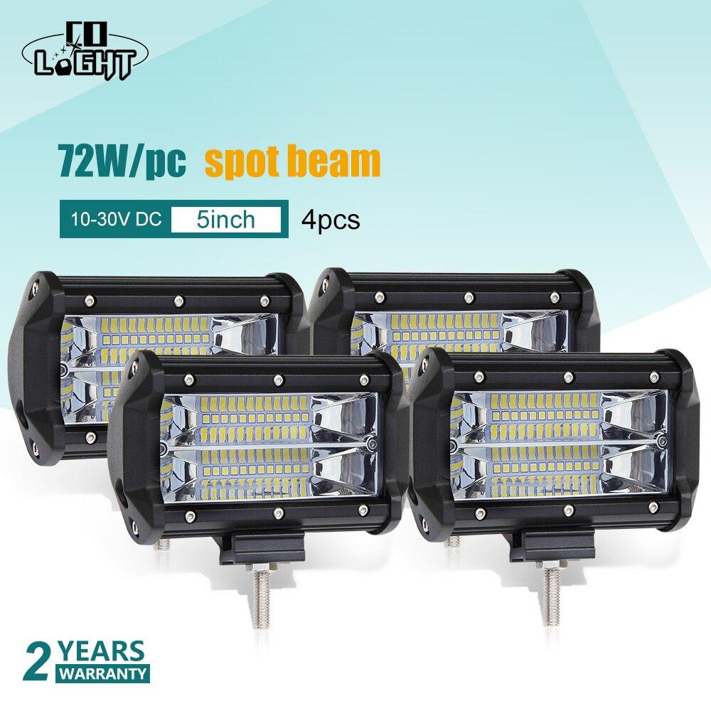 CO LIGHT 4 Вт шт. 72 Вт 144 Вт светодио дный светодиодный рабочий свет бар 12 В в В 24 В точечный луч 8светодио дный 000lm авто светодиодный дальнего света...