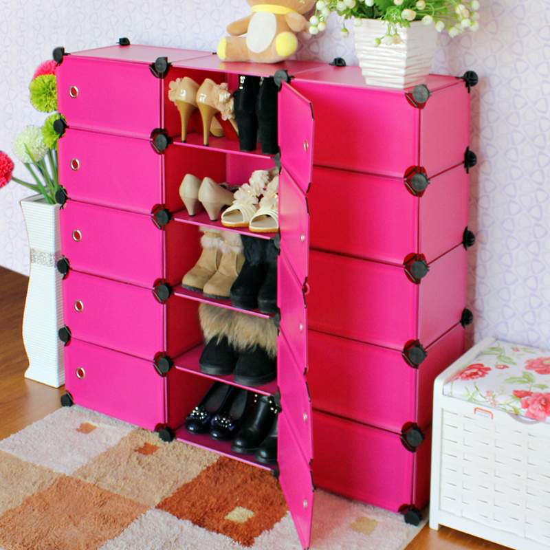 купить  2016 Direct Selling Real Shoe Cabinet Doors Rack Cabinet For Living Room Home Furniture Shelf To Shoe Storage Portable Hs-15  онлайн
