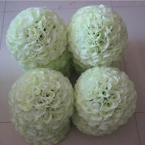 16 40 cm big size milk white artificial encryption rose silk 16 40 cm big size milk white artificial encryption rose silk flower kissing balls for wedding party centerpieces decorations in artificial dried flowers mightylinksfo