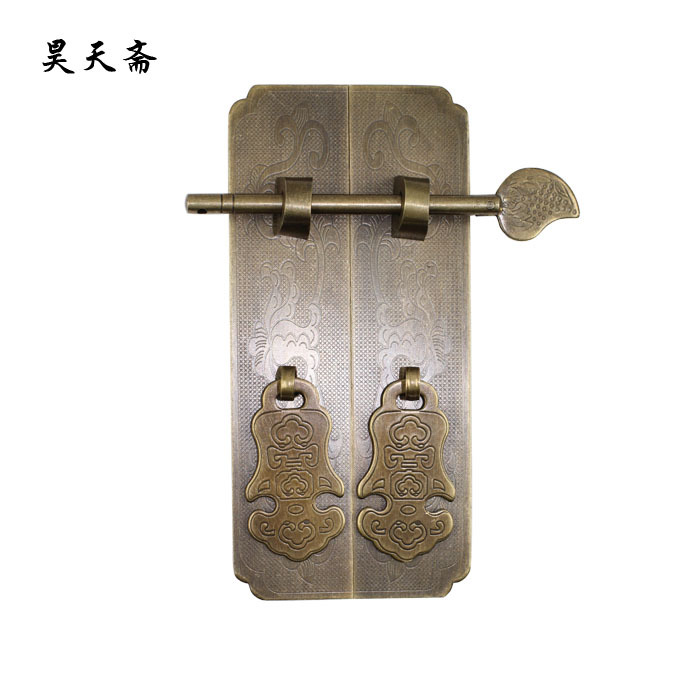 [Haotian vegetarian] antique copper handle wardrobe cupboard furniture bookcases handle HTC-278 Lotus trumpet section [haotian vegetarian] antique furniture wardrobe handle door handle copper pull hands htc 220