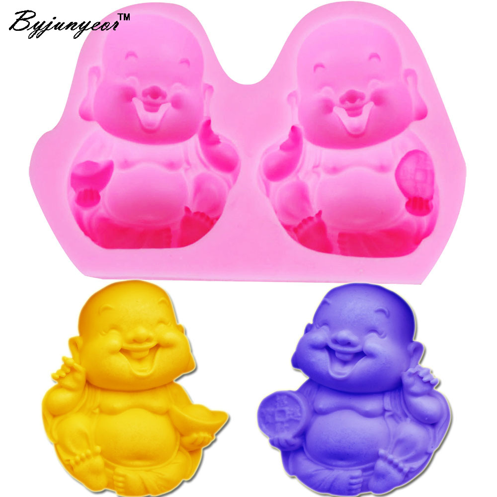 S103 Buddha 3D Candle Soy Wax Mould Scented Soap Mold Handmade Silicone Molds Plaster Resin Clay Making Home Decoration Diy Craf