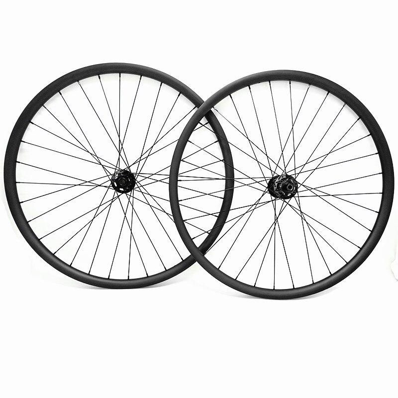 29er carbon mtb disc wheels 1420g boost 148x12mm 110x15mm 27 4x23mm Asymmetry mtb disc bicycle wheels