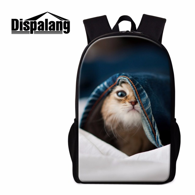 adc648bfc03d Dispalang daily cool backpack boys cute cat Print School Backpacks for girl  Child Cool Animal book