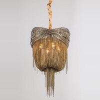 Frete grátis luz do candelabro vintage led fluxo de alumínio lustres lâmpada para sala estar design jantar luz bronze