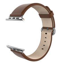 Negro Rojo Marrón GOOSUU 38mm 42mm de Apple Venda de Reloj Correa de Cuero Genuino Correa De Reloj Inteligente de Serie Clásica de la manzana Reloj y Deporte