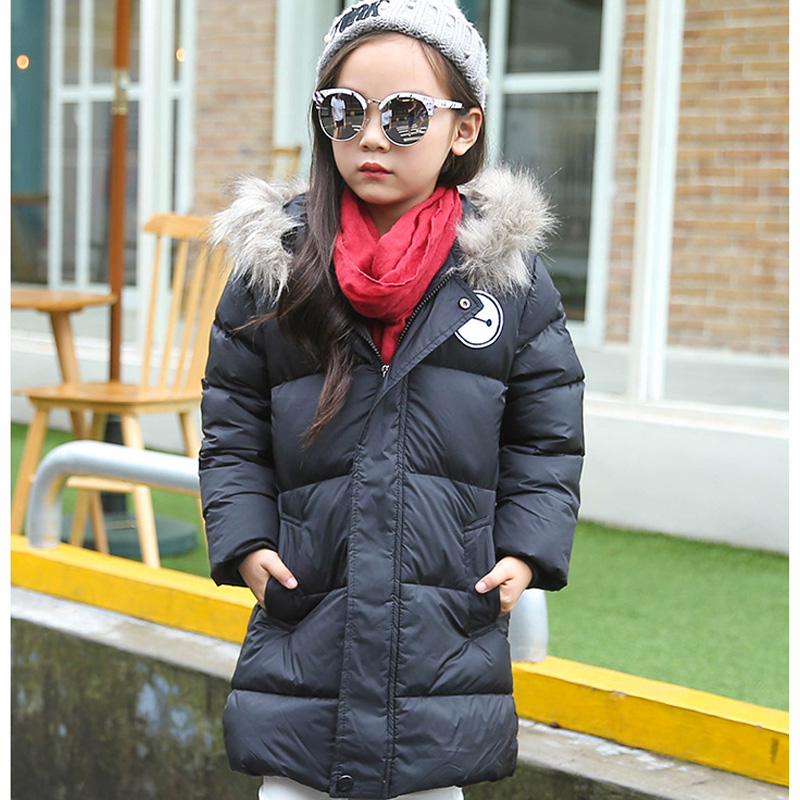 2016 Down Winter Jackets for Boys Girls Thick Long Coat Kids Parkas Snowsuit Warm WindProof Overcoat Children Fur Hooded Coats casual 2016 winter jacket for boys warm jackets coats outerwears thick hooded down cotton jackets for children boy winter parkas
