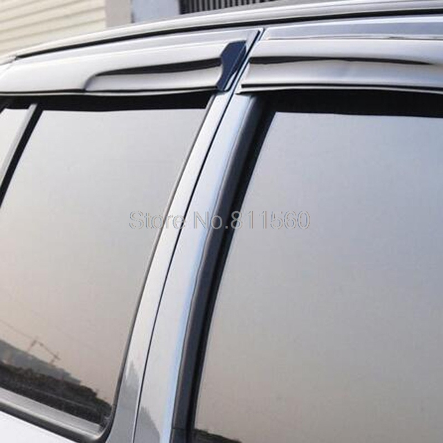 For Suzuki S-cross SX4 Crossover New Arrival ABS Plastic Window Visor Vent Shade Rain Sun Wind Guard Covers 4pcs