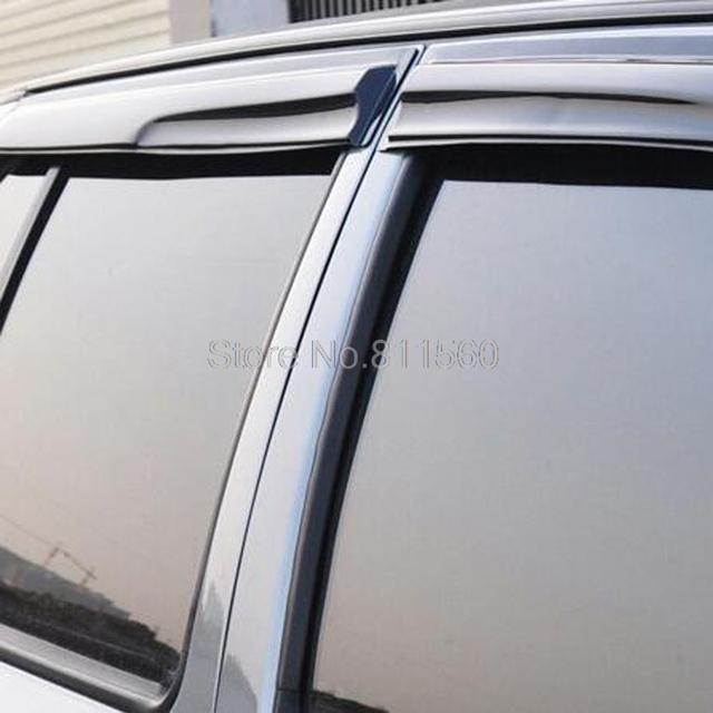 Para Suzuki s-cross SX4 Crossover Nueva Llegada Plástico ABS Vent Shade Visera de la Ventana Rain Sun Protector a prueba de Viento Cubre 4 unids