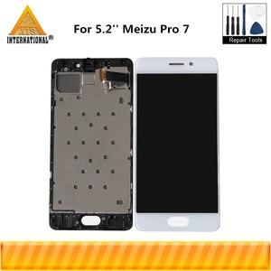 Image 1 - מקורי Axisinternational 5.2 עבור Meizu Pro 7 Pro7 M792H M792Q AMOLED LCD תצוגת מסך + מגע לוח Digitizer עם מסגרת