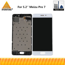 Original Axisinternational 5.2 For Meizu Pro 7 Pro7 M792H M792Q AMOLED LCD Display Screen+Touch Panel Digitizer With Frame