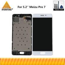 Orijinal Axisinternational 5.2 Meizu Pro 7 için Pro7 M792H M792Q AMOLED LCD ekran ekran + dokunmatik Panel sayısallaştırıcı çerçeve ile