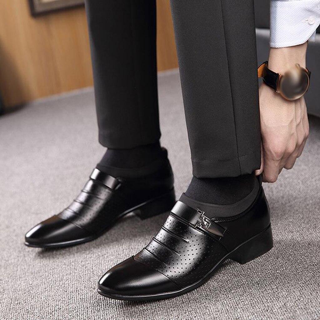 wedding dress suit formal shoes  men slip on men dress shoes business shoes men oxford leather zapatos hombre vestir Mar15