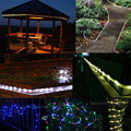 LED Lights Decoration Strip Lights 10m 100LEDs Solar Rope Tube Lights Led String Strip Waterproof Christmas Party Decor