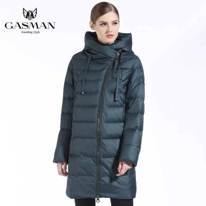 Gasman 2019 Nieuwe Vrouwen Winterjas Jas Ongedwongen Winter Gewatteerde Jas Lange Stijl Kap Slanke Parka Dikker Bovenkleding Jas Plus size - 4