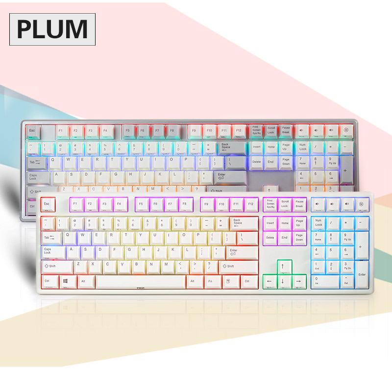 Fast Free shipping Plum 84 87 108 RGB Edition Non Backlit Edition 35g 45g Realforce Structure