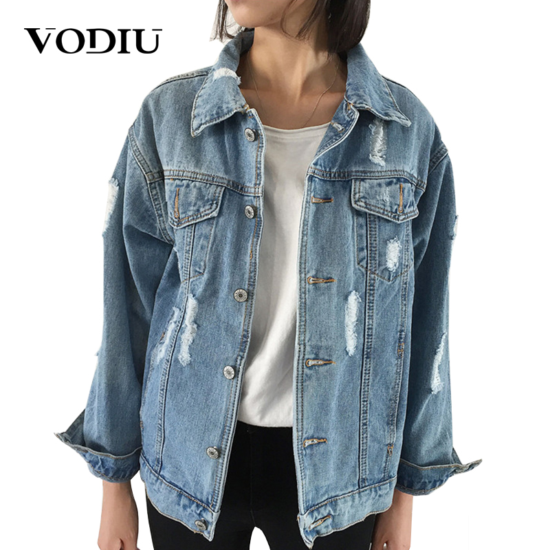 Jacket   Coat Women   Basic     Jackets   2018 New Fashion Demin Outwear Long Sleeve Vintage Bomber Coat Outerwear & Coats Ladies   Jacket